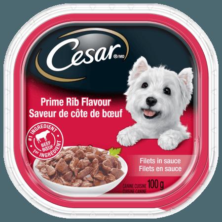 CESAR® Filets in Sauce: Prime Rib Flavour 100g