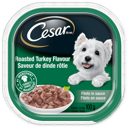 CESAR® Filets in Sauce: Roasted Turkey Flavour 100g