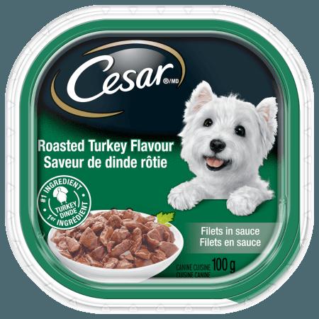 Nourriture CESARMD filets en sauce saveur de dinde rôtie 100g