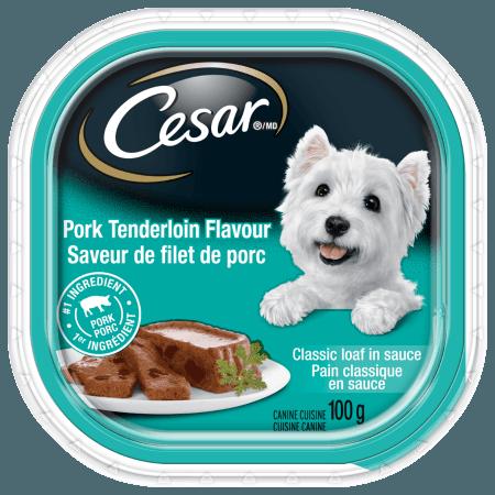 Nourriture CESARMD pain classique en sauce saveur de filet de porc 100g