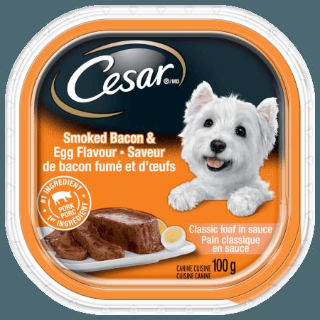 Nourriture CESARMD pain classique en sauce saveur de bacon fumé et d'œufs 100g