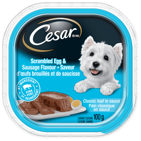 CESAR® Classic Loaf in Sauce Scrambled Egg & Sausage Flavour 100g