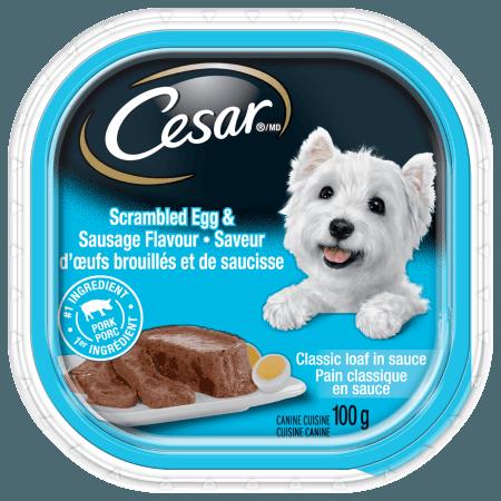 Nourriture CESARMD pain classique en sauce saveur d'œufs brouillés et de saucisse 100g