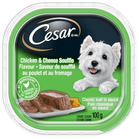 CESAR® Classic Loaf in Sauce Chicken And Cheese Souffle Flavour 100g