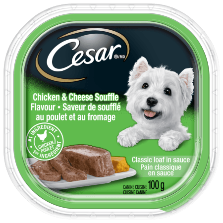 Nourriture CESARMD pain classique en sauce SAVEUR DE SOUFFLÉ AU POULET ET AU FROMAGE 100 g