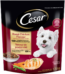 CESAR® Roast Chicken Flavour and Spring Vegetable Garnish