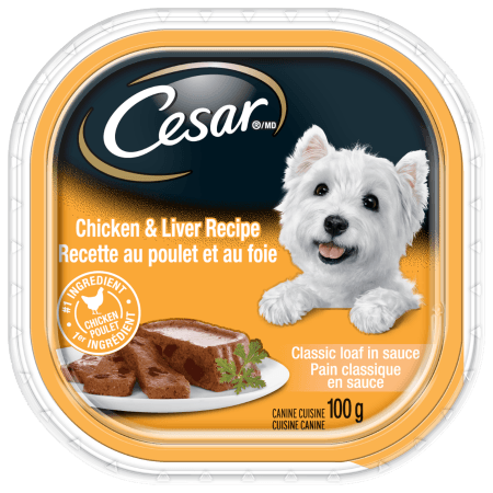CESAR® Classic Loaf in Sauce: Chicken And Liver Recipe 100g