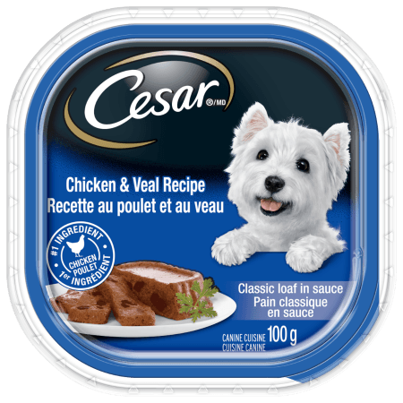 CESAR® Classic Loaf in Sauce: Chicken And Veal Recipe 100g