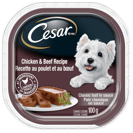 CESAR® Classic Loaf in Sauce: Chicken And Beef Recipe In Sauce 100g