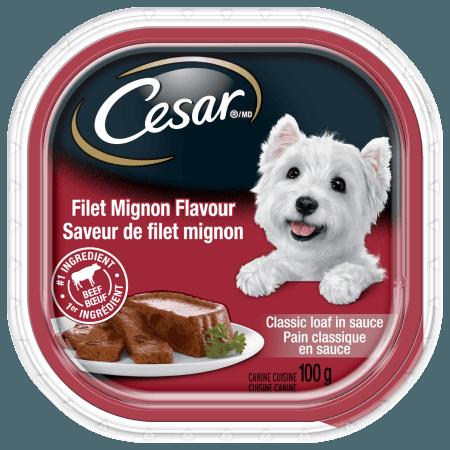 Nourriture CESARMD pain classique en sauce saveur de filet mignon 100g