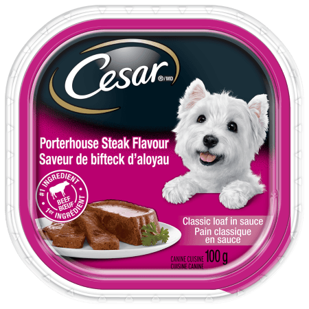CESAR® Classic Loaf in sauce: Porterhouse Steak Flavour 100g