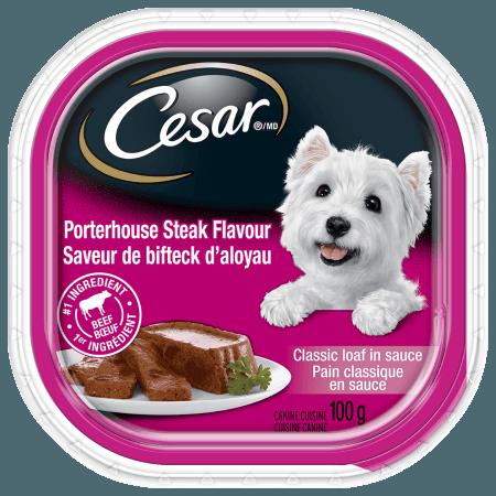 Nourriture CESARMD pain classique en sauce saveur de bifteck d'aloyau 100g