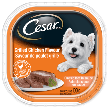 CESAR® Classic Loaf in Sauce: Grilled Chicken Flavour 100g