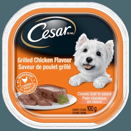 Nourriture CESARMD pain classique en sauce saveur de poulet grillé 100g