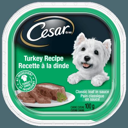 Nourriture CESARMD pain classique en sauce recette à la dinde 100g