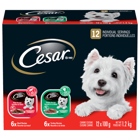 CESAR® Classic Loaf in Sauce: 6 Beef & 6 Turkey 12x100g