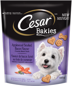 CESAR® BAKIES™ Aplewood Smoked Bacon Flavour 180g
