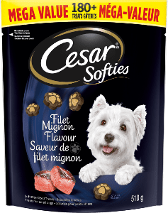 Gâteries CESARMD SOFTIESMC saveur de filet mignon 510 g