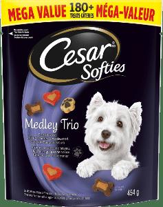 Gâteries CESARMD SOFTIESMC medley trio 454g