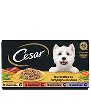CESAR® Barquettes - Les recettes  de campagne en sauce 4x150g