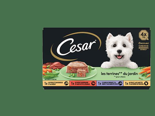 CESAR%c2%ae+Barquettes+-+Les+terrines+du+jardin+4x150g