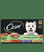 CESAR® Barquettes - Les terrines du jardin 4x150g