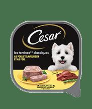 CESAR® Barquettes - Les terrines Classiques au Poulet savoureux et au Foie 300g