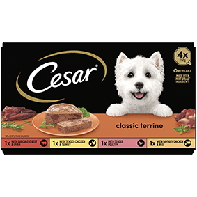Cesar<sup>® </sup> Classic Terrine mixed variety pack (150g tray, 4pk)