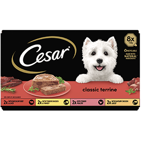 Cesar<sup>® </sup> Classic Terrine mixed variety pack (150g tray, 8pk)