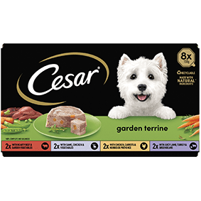 Cesar<sup>® </sup> Garden Terrine mixed variety pack (150g tray, 8pk)