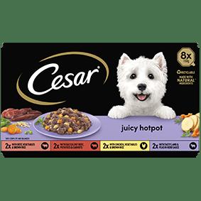 Cesar<sup>® </sup> Juicy Hotpot mixed variety pack (150g tray, 8pk)