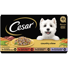 Cesar<sup>® </sup> Country Stew mixed variety pack (150g tray, 4pk)