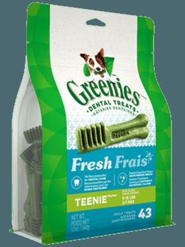 Gâteries dentaires pour chiens GREENIES<sup>MC</sup> Frais– format TEENIE<sup>MC</sup>