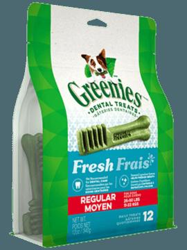 Gâteries dentaires pour chiens GREENIES<sup>MC</sup> Frais – format moyen