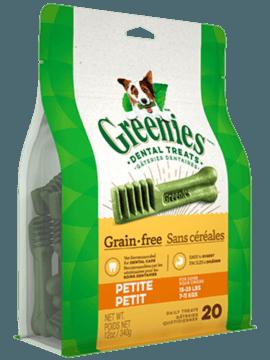 Gâteries dentaires pour chiens GREENIES<sup>MC</sup> sans céréales – petit format