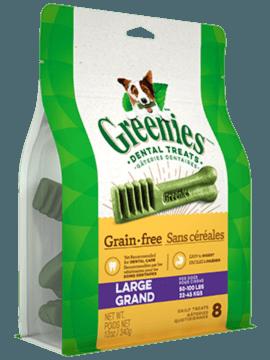 Gâteries dentaires pour chiens GREENIES<sup>MC</sup> sans céréales – grand format
