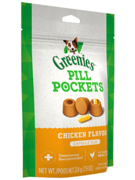 PILL POCKETS™ Treats for Dogs Chicken Flavor Capsule