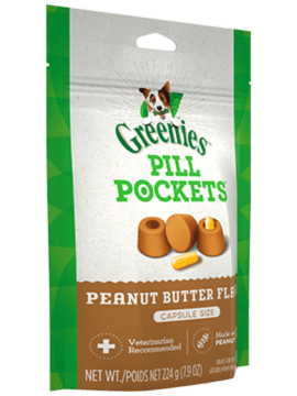 PILL POCKETS™ Treats for Dogs Real Peanut Butter Flavor Capsule