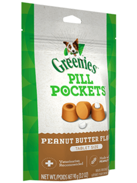 PILL POCKETS™ Treats for Dogs Real Peanut Butter Flavor Tablet