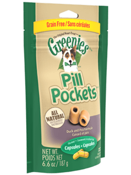 PILL POCKETS™ Treats for Dogs Grain Free Formula Duck and Pea Capsule
