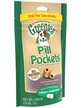PILL POCKETS™ Treats for Dogs Grain Free Formula Duck and Pea Tablet
