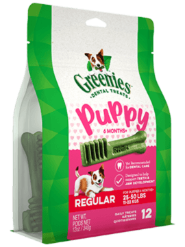 GREENIES™ Puppy 6+ Months Regular Size Dog Dental Treats