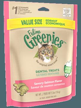 FELINE GREENIES™ Dental Treats Savory Salmon Flavor