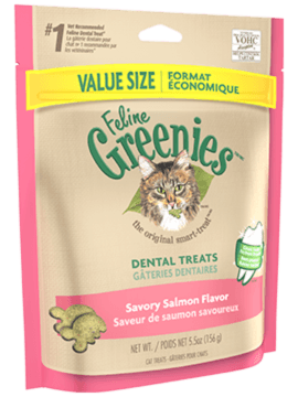 GREENIES<sup>MC</sup> Gâteries Dentaire pour Chats Saveur de Saumon Aromatique