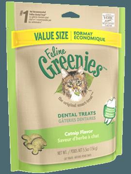 GREENIES<sup>MC</sup> Gâteries Dentaire pour Chats Saveur d'herbe à chat