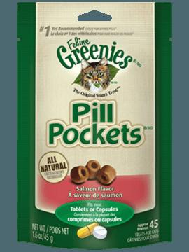 GREENIES<sup>MC</sup> PILL POCKETS<sup>MC</sup> GÂTERIES pour Chats Saveur Saumon aromatique