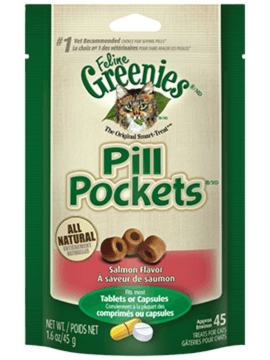 GREENIES<sup>MC</sup> PILL POCKETS<sup>MC</sup> GÂTERIES pour Chats Saveur Saumon aromatique