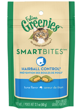 FELINE GREENIES™ SMARTBITES™ Hairball Control Treats Tuna Flavor