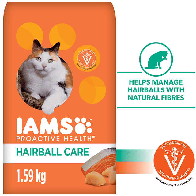Adult Hairball Care Dry Cat Food with Chicken and Salmon
