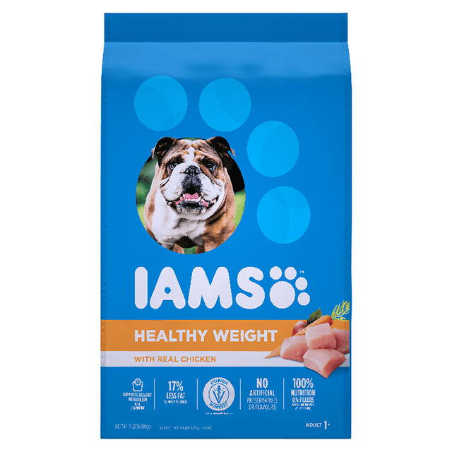 Adult Healthy Weight Control Dry Dog Food with Real Chicken